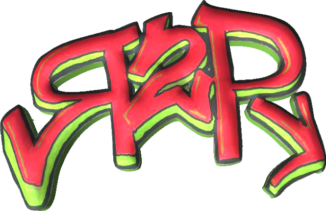 R2P Graffiti Logo